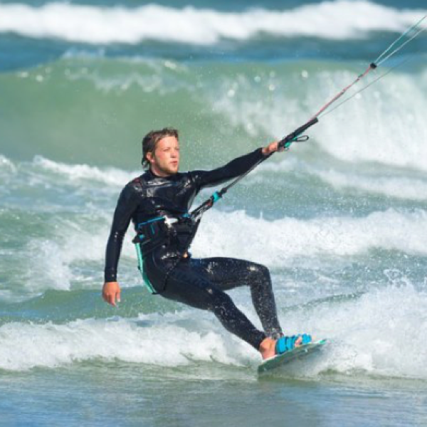 Image of Kitesurfer for Kitesurfing Kiteboarding Lessons School Tuition West Sussex Wittering Bracklesham Close to London