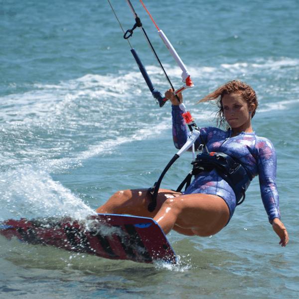 kitesurfing lessons image of girl kitesurfing